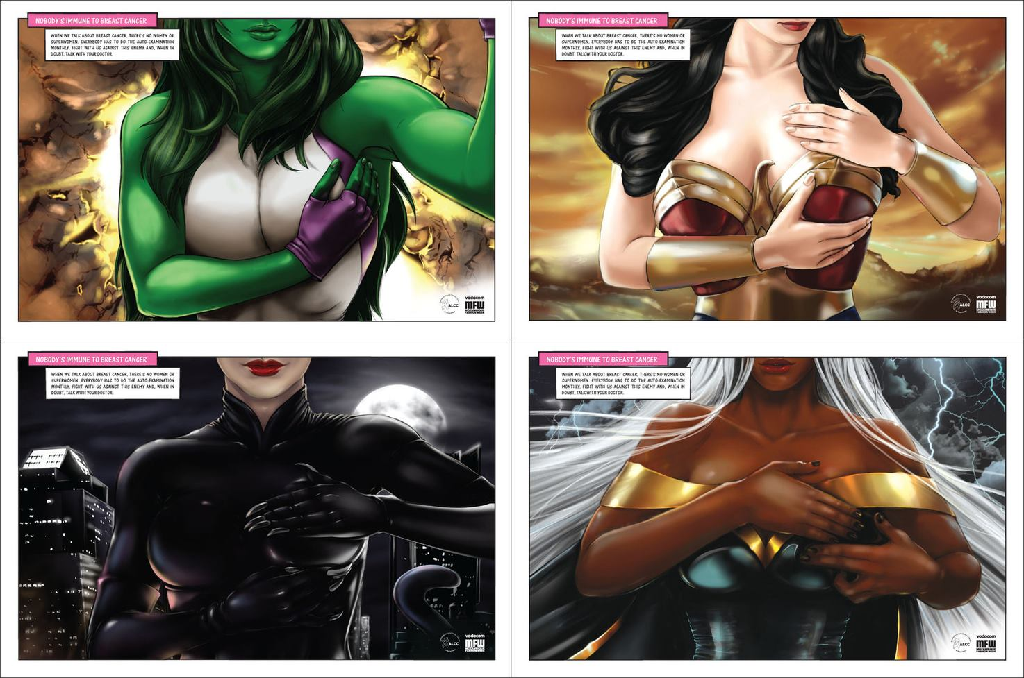 Comic book women against breast cancer?